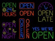 De Open Tekens van het neon vector illustratie