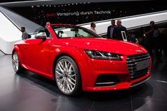 De Open tweepersoonsauto van Audi TTS Stock Afbeeldingen