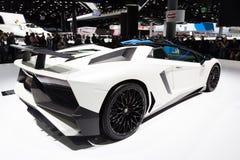 2015 de Open tweepersoonsauto van Lamborghini Aventador SV Royalty-vrije Stock Foto's