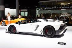 2015 de Open tweepersoonsauto van Lamborghini Aventador SV Stock Afbeeldingen