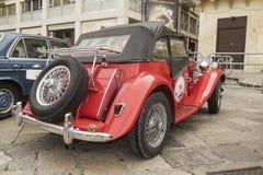 De open tweepersoonsauto 1952 van Mg topdowncruiser td Stock Afbeeldingen