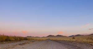 De open Weg van de Woestijn Stock Afbeeldingen