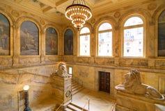 De Openbare Bibliotheek van Boston Stock Afbeeldingen