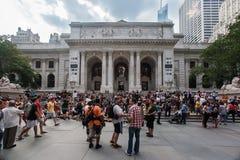De Openbare Bibliotheek van New York Stock Fotografie