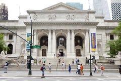 De Openbare Bibliotheek van New York Stock Afbeeldingen