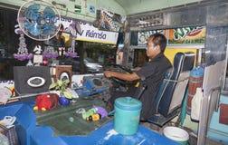 De openbare bussen van Bangkok stock afbeelding