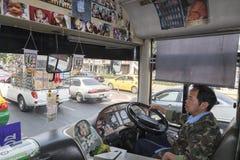 De openbare bussen van Bangkok stock fotografie