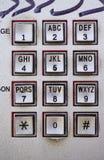 De openbare console van het telefoonmetaal met verschillende knopen Stock Fotografie