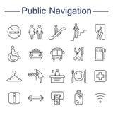 De openbare Pictogrammen van Navigatietekens Royalty-vrije Stock Afbeelding