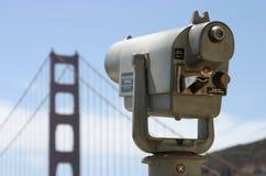 De openbare Telescoop kijkt naar Gouden Poort royalty-vrije stock afbeeldingen