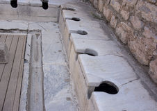 De openbare toiletten van Ephesus Stock Afbeelding
