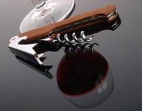 De opener van de wijn stock fotografie