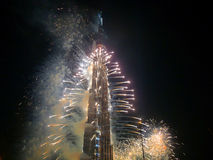 De OpeningsCeremonie van Burj van Khalifa (Burj Doubai) Stock Foto's