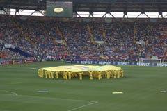 De openingsceremonie van Euro 2012 in Kharkov Stock Foto's
