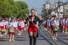 De openingsceremonie van verjaardagschiang mai flower festival 2017 Stock Foto