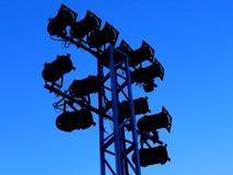 De openlucht Lichten van het Stadium Stock Fotografie