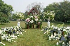 De openlucht Scène van het Huwelijk stock foto's