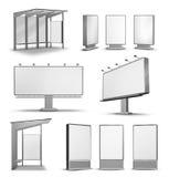 De openluchtaanplakborden van de reclameaffiche Royalty-vrije Stock Afbeeldingen