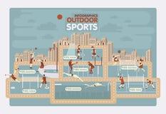 De openluchtgrafiek van de sporteninformatie Stock Afbeelding