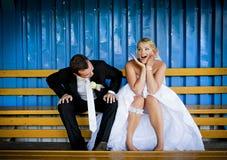 De openluchtportretten van het huwelijk Royalty-vrije Stock Afbeelding