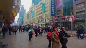 De openluchtwandelgalerij van de binnenstad van Shanghai Stock Fotografie