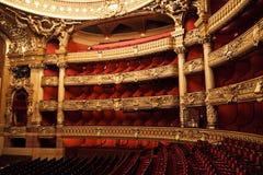 De opera of het Paleis Garnier. Parijs, Frankrijk. Royalty-vrije Stock Afbeeldingen