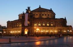 De opera van Dresden Stock Foto's