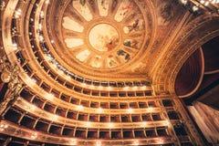 De opera van het theaterplafond Stock Fotografie