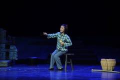 De opera van Jiangxi van de borduurwerkzuster een weeghaak Stock Foto