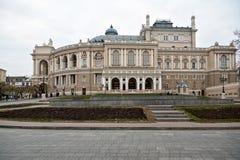 De Opera van Odessa en het Theater van het Ballet stock foto's