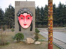 De opera van Peking, Acial-make-up in de Opera van Peking Stock Afbeeldingen