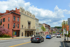De Operahuis van Bangor in Bangor van de binnenstad, Maine Stock Afbeeldingen
