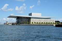 De Operahuis van Kopenhagen Denemarken Stock Afbeeldingen