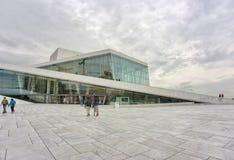 De Operahuis van Oslo Stock Afbeelding