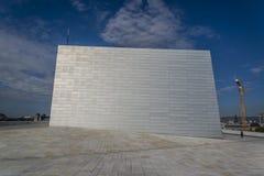 De Operahuis van Oslo, Oslo, Noorwegen stock foto