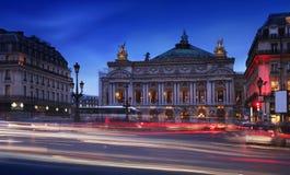 De operahuis van Parijs (het Palais Garnier), Frankrijk. Stock Foto