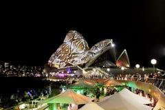 De OPERAhuis van SYDNEY, AUSTRALIË - MEI 28, 2014 - Reptielsnakeskin Royalty-vrije Stock Afbeeldingen