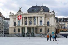 De operahuis van Zürich Royalty-vrije Stock Foto's