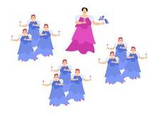 De operazanger op het stadium diva Leuke beeldverhaalvector vector illustratie