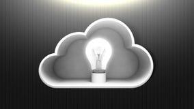 De opgeloste Wolkenit animatie van de oplossingsdienst stock illustratie
