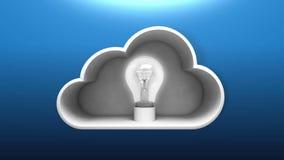 De opgeloste Wolkenit animatie van de oplossingsdienst vector illustratie