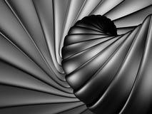 De opgepoetste achtergrond van het chroom abstracte metaal vector illustratie