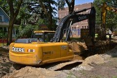 De opgravende machine van John Deere 200D Stock Fotografie