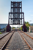 De ophaalbrug van de Fort Lauderdalespoorweg Stock Foto's