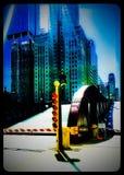 De Ophaalbrug van de Lasallestraat in de Lijn van Chicago bij Wacker-Aandrijving wordt opgeheven die Royalty-vrije Stock Foto's