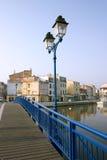 De ophaalbrug van Martigues Stock Afbeelding