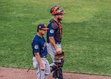De Opleiding van Astros van Evan Gattis 2017 Royalty-vrije Stock Foto
