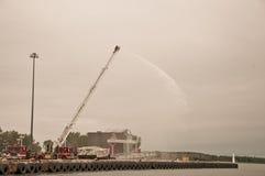 De opleiding van brandweerlieden Royalty-vrije Stock Foto