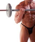 De opleiding van de bodybuilder Royalty-vrije Stock Fotografie