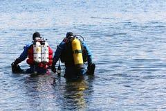 De opleiding van de duiker stock foto's